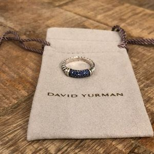 David Yurman sapphire cable ring